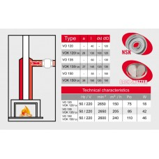 Высокотемпературный вентилятор BOK 120\100T